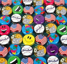 Lot Of 60 Two Inch Metal Yo Yo Yos Assorted Designs Party Favor, Birthday Gifts