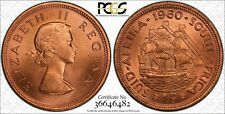 1960 SOUTH AFRICA ONE 1 PENNY PCGS MS66RD VERY NICE COIN! HIGHEST GRADED!