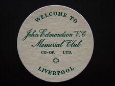 JOHN EDMONDSON V.C. MEMORIAL CLUB CO-OP LTD LIVERPOOL COASTER