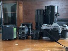 Canon AE-1 35mm SLR Film Camera Lenses 50mm 28mm 80-205mm Converter Vintage Zoom