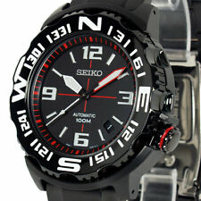 Seiko Superior Automatic 100M Men's Black PVD Stainless Strap Watch