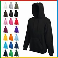 CHILDRENS HOODIE HOODED SWEATSHIRT KIDS BOYS GIRLS LIGHTWEIGHT Fruit Of The Loom