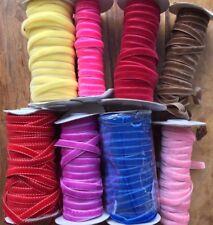 VELVET RIBBON 10mm (1m, 5m, 10m) Hair Ribbons Velour Gift Crafts Edging, 1 metre