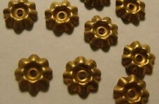VINTAGE FLUTED ROUND  BRASS SETTINGS