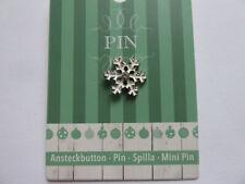 Brosche Anstecker  Schneeflocke Weihnachten Christmas Pin