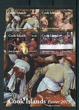 Cook Islands 2015 neuf sans charnière Pâques 4 V M/S Art peintures Rubens Giampietrino timbres