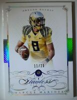 2015 National Treasures Marcus Mariota Flawless /20 Diamond OREGON RAIDER ROOKIE