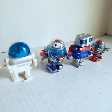 Wind Up Toy Robot Lot Of 4 Walking Robots