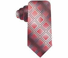 John Ashford Bryant Square Geo Neck Tie (Red, OS)