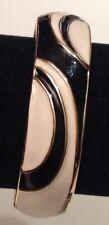 braccialetto vintage colore oro rodio con posta elettronica bianco e nero