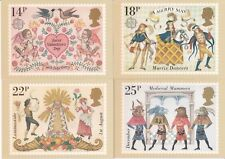 GB 1981 PHQ Cards Mint Set~Folklore~(4)~PHQ-49~UK Seller