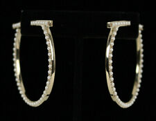 SALVATORE FERRAGAMO Gold Imitation Pearl Logo CREOLA Hoop Earrings