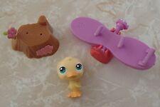 Littlest Pet Shop Cat Dog Accessory Lot Easter Basket Gift Set Duck Duckling