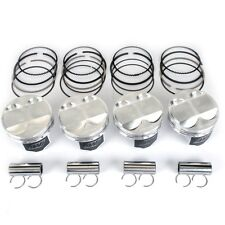 WISECO 75.5MM 8.4:1 CR HONDA CIVIC D16Z6 D16Y7 FORGED PISTONS RINGS LOCKS