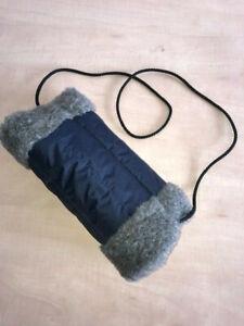 Handmuff Webpelz / Nylon für warme / geschütze Hände Handwärmer