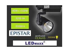 LED-MAXX Spot 3-Phasen Strahler schwarz 36° 30W Schiene Leuchte 230V