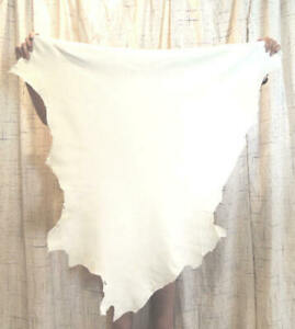 WHITE SHEEPSKIN Leather Hide for Native Crafts Buckskins Garments Costumes Bags