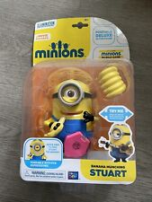 Minions - Banana Munching Stuart - Poseable Action Figure - New In Card