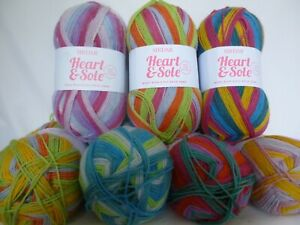 Sirdar Heart & Sole 4 Ply Sock yarn  x 100g ~ Choose Colour