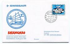 FFC 1975 Swissair First Flight Zurich Schweiz Genf Peking Shanghai Onu