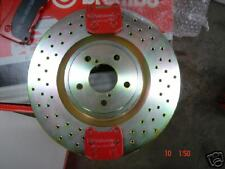 FOR SUBARU IMPREZA STI BRAKE DISC DRILLED BREMBO PADS 2002R