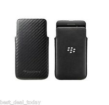OEM Blackberry Leather Pocket Pouch Case For Z10 BB10 BB-10 Black Veri