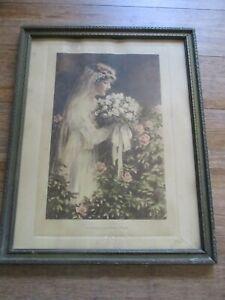 Antique BESSIE PEASE GUTMANN The Fairest of the Flowers Original Framed Print