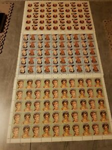EASDALE ISLAND SCOTLAND PRINCESS DIANA 3 FULL SHEETS WITH INVERTED WRITING MNH.