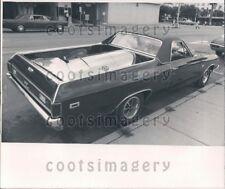 1969 Wire Photo Chevrolet El Camero Automobile