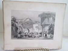 Vintage Print,ENTRANCE TO DIVAN,Fishers,Constaninople,Allom,c1860