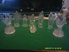 Glass Nativity Set, 6 pcs plus 2 bonus angel ornaments