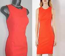 KAREN MILLEN Orange Stretch Pencil Office Cocktail Dress UK 12  EU 40 £170 DY091