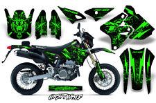Decal Graphic Kit Wrap For Kawasaki KLX400 KLX 400 00-18 Dirt Bike NIGHTWOLF GRN