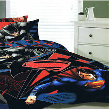Batman v Superman - Known Abilties - Queen Bed Quilt Doona Duvet Cover Set