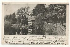Boat Club in TAUNTON MA Vintage 1905 Massachusetts Postcard 1