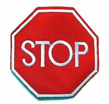 Stop Sign Iron On Patch- Novelty Funny Badge Applique Sew Patches