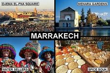 SOUVENIR FRIDGE MAGNET of MARRAKECH MOROCCO