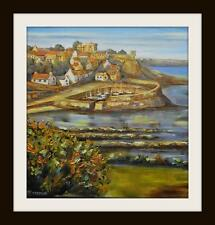 "Crail East Neuk Fife Original Marine Oil Painting by Kevin Corroue 12"" X 12"""