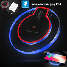 Slim Qi Wireless Charger Pad Phone Fast Charging Receiver Fr iPhone X Samsung S8