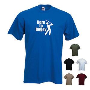'Born to Bogey' Funny Golf Golfer Golfing Present Tshirt Tee