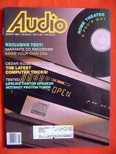 """""""Audio"""" 3/92 Marantz CDR-1, Proton AT-670, Canton Ergo 100, Naim NAP 135 NAC 72"""