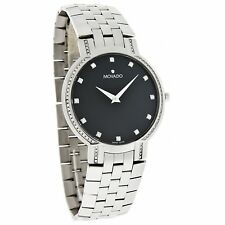 Movado Men's 0606237 'Faceto' Diamond Stainless Steel Watch