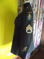 "U.S. Army Green parade coat Airborne Special Forces 46"" chest"