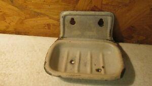 Antique White Tin Soap Dish Wallmount