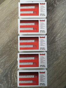 Klammern 5000 Stk 5,7 x 28 mm Druckluft-Tacker-Zubehör
