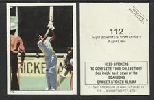 AUSTRALIA 1983 SCANLENS CRICKET STICKERS SERIES 2 - KAPIL DEV (INDIA) # 112