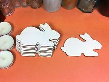 WOODEN RABBIT LYING  Shapes 10cm (x10) wood shape crafts easter bunny blanks