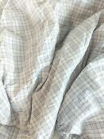 Eddie Bauer Home Lavender Plaid Full Fitted Sheet Purple White Cotton