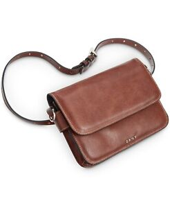 DKNY Cognac Brown  faux leather belt Bag fanny pack Large / L nwt