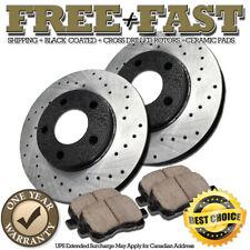 Fit 2006-2012 Mitsubishi Eclipse Galant Front Blank Brake Rotors+Ceramic Pads